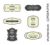 wedding label design | Shutterstock .eps vector #1290691954