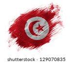 tunisia. tunisian flag painted... | Shutterstock . vector #129070835