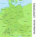 map of germany  switzerland and ... | Shutterstock .eps vector #1290709501