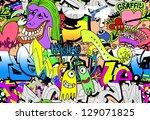 graffiti wall. urban art vector ...
