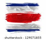 the costa rica flag  painted... | Shutterstock . vector #129071855