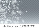 vector snow background. holiday ... | Shutterstock .eps vector #1290723211