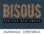 bisous placement animal print...   Shutterstock .eps vector #1290728611