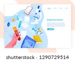 web banner template with hand...   Shutterstock .eps vector #1290729514