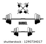 barbel fitness gym simple flat... | Shutterstock .eps vector #1290734017