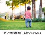 Little Baby Boy Walking In The...