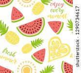 seamless pattern with yellow...   Shutterstock .eps vector #1290734617