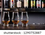 three glencairn glass with... | Shutterstock . vector #1290752887