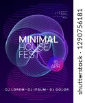 trance party. dynamic gradient... | Shutterstock .eps vector #1290756181