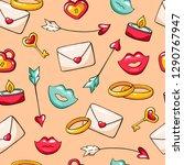 valentine's day seamless vector ... | Shutterstock .eps vector #1290767947