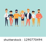 business characters  team ... | Shutterstock .eps vector #1290770494