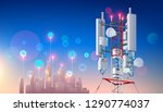 antenna for wireless network....   Shutterstock . vector #1290774037