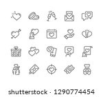 Simple Set of Love Related Vector Line Icons. Contains such Icons as Romantic Letter, Happy Couple, Gift, Broken Heart and more. Editable Stroke. 48x48 Pixel Perfect.