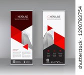 vertical banner stand template...   Shutterstock .eps vector #1290783754