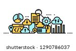 flat line icon art style... | Shutterstock .eps vector #1290786037