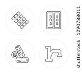 4 line tiles  log  gas pipe ... | Shutterstock .eps vector #1290788011