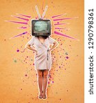 contemporary art collage ...   Shutterstock . vector #1290798361
