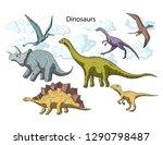 prehistoric vector dino animals....   Shutterstock .eps vector #1290798487