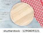 cutting board or chopping board ... | Shutterstock . vector #1290809221