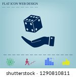 cubes for the game vector icon. | Shutterstock .eps vector #1290810811