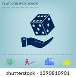 cubes for the game vector icon. | Shutterstock .eps vector #1290810901