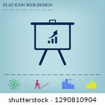 infographics on the stand ... | Shutterstock .eps vector #1290810904