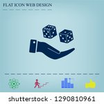 cubes for the game vector icon. | Shutterstock .eps vector #1290810961
