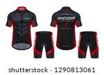 cycling jerseys mockup t shirt... | Shutterstock .eps vector #1290813061