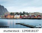 long exposure of dock with... | Shutterstock . vector #1290818137