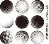 Collection Of Halftone Sphere...