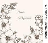 vintage flower background.... | Shutterstock .eps vector #129082475