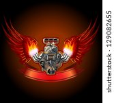 Turbo Engine With Wings Eps 10