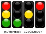 traffic lights  lamps. traffic... | Shutterstock .eps vector #1290828097