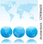 Binary World. Vector Map Of Th...