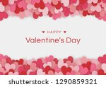 happy valentines day card with... | Shutterstock .eps vector #1290859321