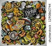 picnic hand drawn vector... | Shutterstock .eps vector #1290862744