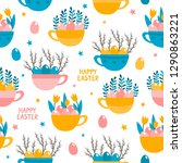 vector seamless pattern with... | Shutterstock .eps vector #1290863221