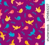 pattern with colorful flying... | Shutterstock .eps vector #1290863227