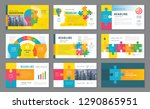 abstract presentation templates ... | Shutterstock .eps vector #1290865951