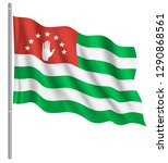 flag of abkhazia with flag pole ...   Shutterstock .eps vector #1290868561
