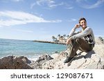 side view of a professional man ... | Shutterstock . vector #129087671