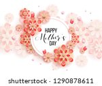 happy mother's day layout... | Shutterstock .eps vector #1290878611