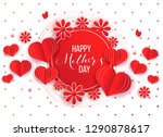 happy mother's day layout... | Shutterstock .eps vector #1290878617