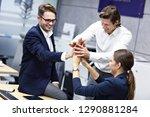 group of business people... | Shutterstock . vector #1290881284