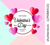 hand drawn valentines day... | Shutterstock .eps vector #1290884131