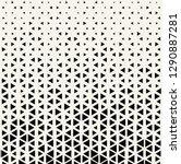 triangle halftone pattern ... | Shutterstock .eps vector #1290887281