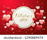 saint valentine's day greeting... | Shutterstock .eps vector #1290889474
