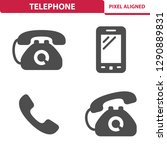 telephone icons. professional ... | Shutterstock .eps vector #1290889831