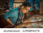 elegant man in museum  natural... | Shutterstock . vector #1290894274