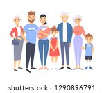 set of different couples and... | Shutterstock .eps vector #1290896791